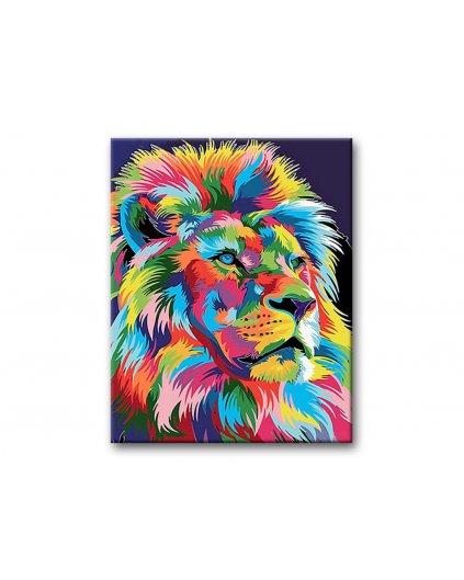Malowanie po numerach – Kolorowy lew