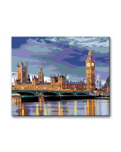 Malowanie po numerach - Big Ben wieczorem