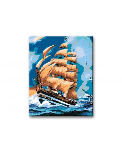 Malowanie po numerach – Żeglowanie na morzu