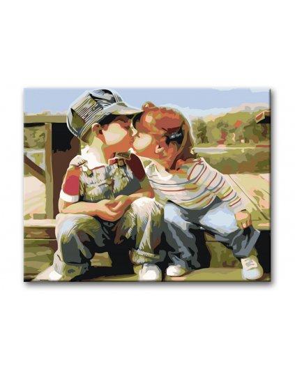 Malowanie po numerach – Dziecięcy pocałunek