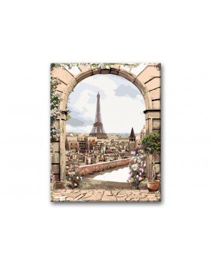 Malowanie po numerach - Wieża Eiffla widok na miasto