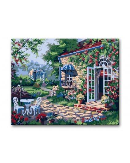 Malowanie po numerach – Patio w ogrodzie