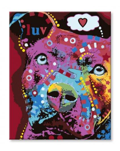 Malowanie po numerach – Kolorowy pies