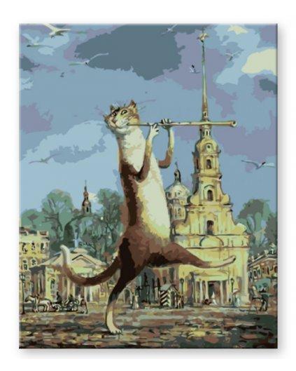 Malowanie po numerach – Kot z fletem