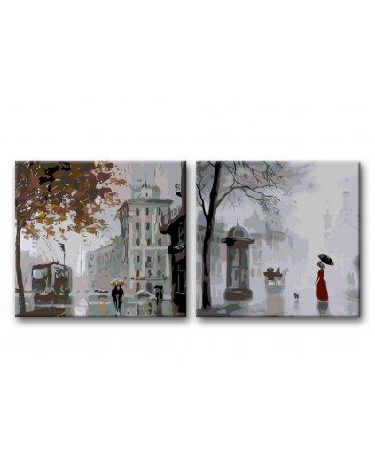 Malowanie po numerach – Komplet – Listopadowa pogoda
