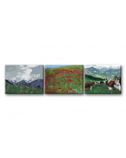 Malowanie po numerach – Komplet – Alpejski krajobraz