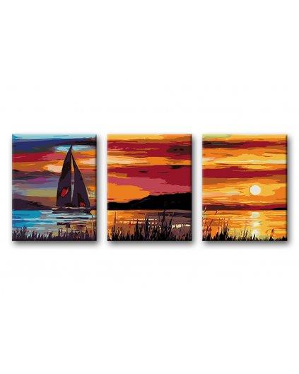 Malowanie po numerach – Komplet – Zachód słońca