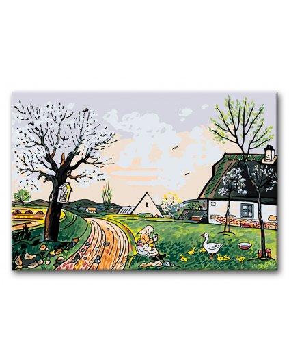 Malowanie po numerach - Josef Lada – Wiosna