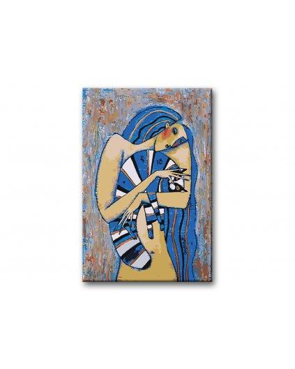 Malowanie po numerach – Niebieski kot