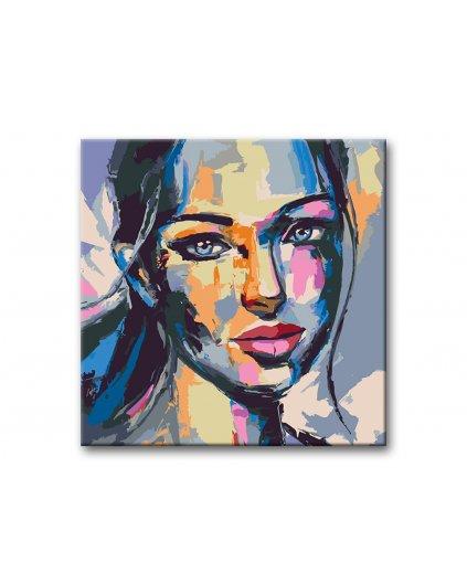Malowanie po numerach - Portret kolorowej kobiety