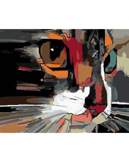 Malowanie po numerach – Kot – abstrakcja