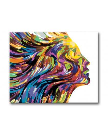 Malowanie po numerach – Kobieta – abstrakcja