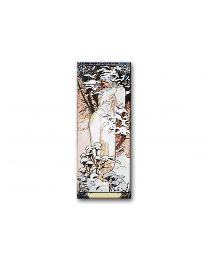 Malowanie po numerach - Alfons Mucha - Zima