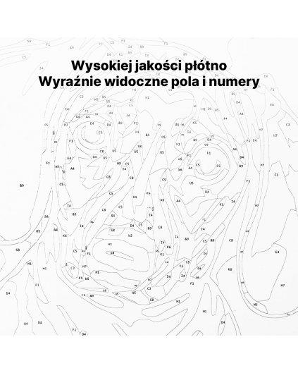 Malowanie po numerach - Subtelny błękitny bukiet