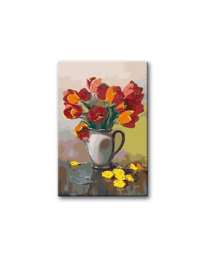 Malowanie po numerach - Czerwone tulipany