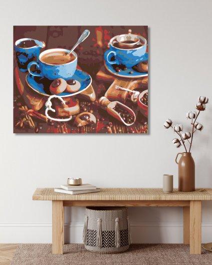 Malowanie po numerach – Poranna kawa I.