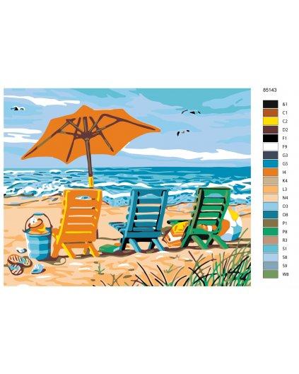 Malowanie po numerach – Na plaży