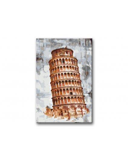 Malowanie po numerach - Krzywa wieża w Pizie