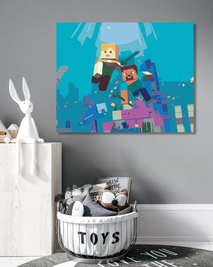 Malowanie po numerach - Minecraft - podwodny
