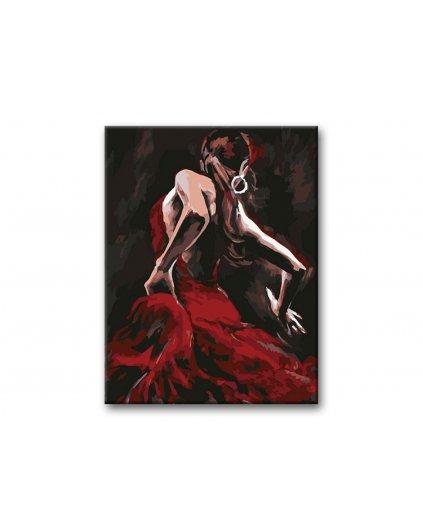 Malowanie po numerach – Piękna kobieta w tańcu