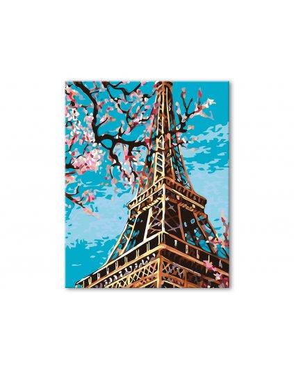 Malowanie po numerach - Wieża Eiffla wiosną