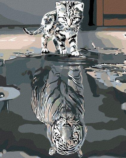 Malowanie po numerach – Kotek czy tygrys