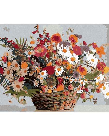 Malowanie po numerach – Polne kwiaty w koszu
