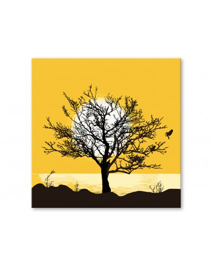 Malowanie po numerach – Samotne drzewo