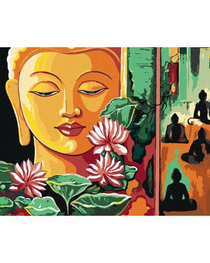 Malowanie po numerach - AZJATYCKI BUDDA