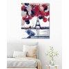 Malowanie po numerach - Kobieta z balonami przed Wieża Eiffla