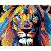 Malowanie po numerach – Kolorowy lew II