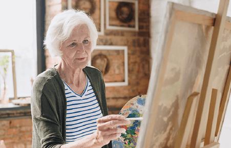 Maľovanie podľa čísel pre seniorov