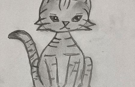 Ako nakresliť štylizovanú mačičku