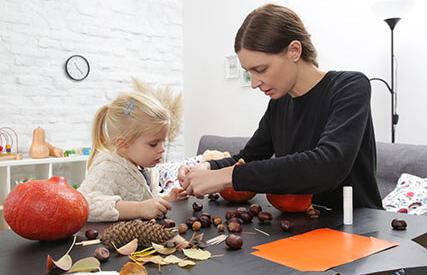 Vytvorte si s deťmi vlastné jesenné dekorácie