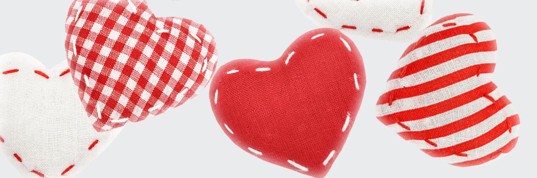vankúšiky v tvare srdca