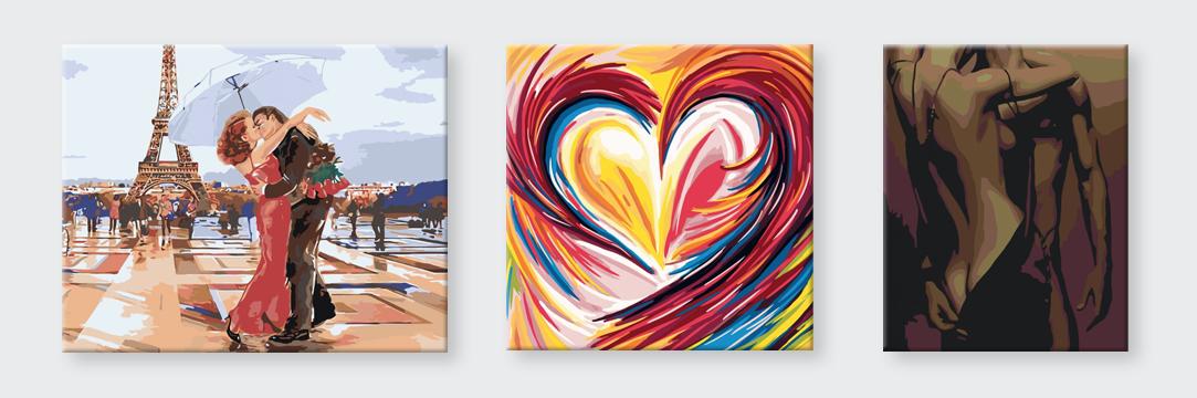 Maľovanie podľa čísel - romantika
