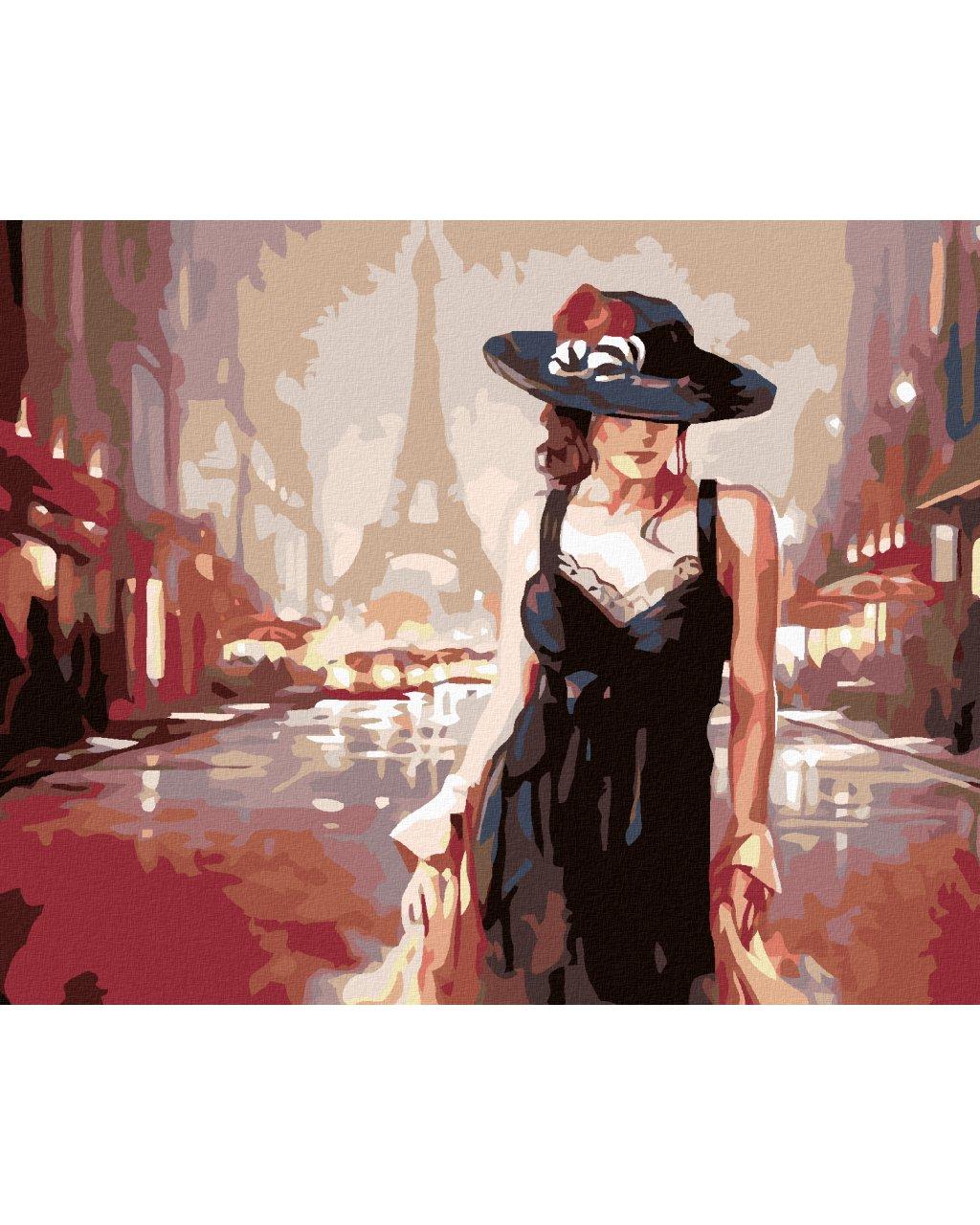 Maľovanie podľa čísel - ŽENA V PARÍŽI