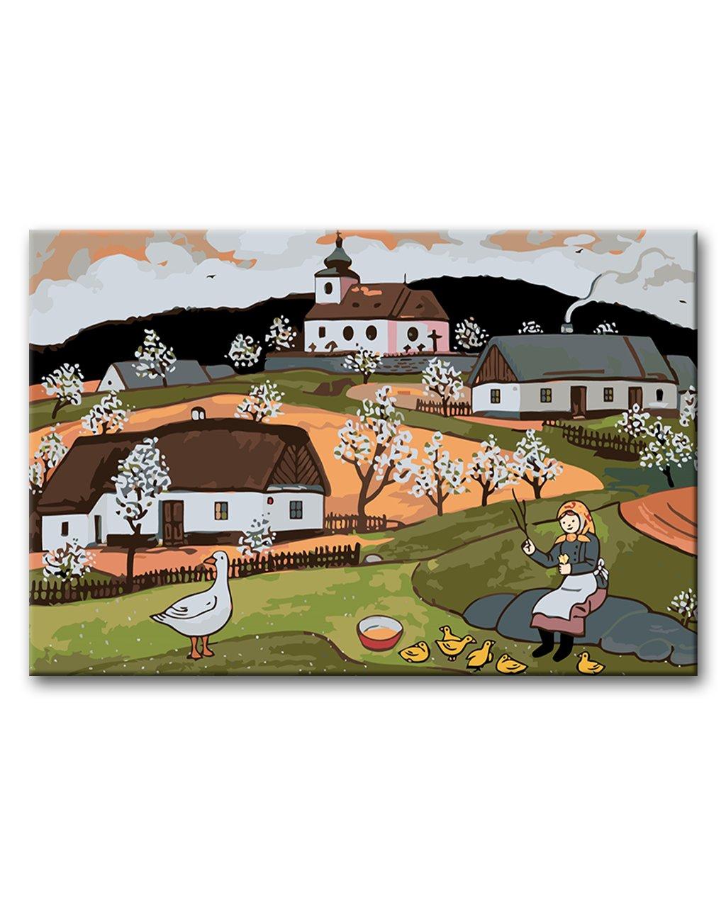 Maľovanie podľa čísel - JOSEF LADA - HÚSOPASKA