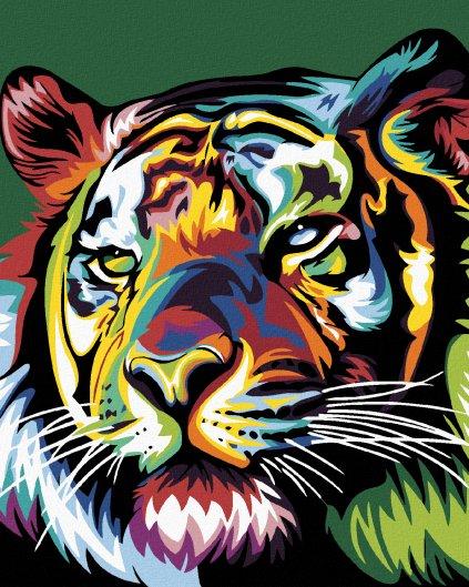 Maľovanie podľa čísel - FAREBNÝ TIGER
