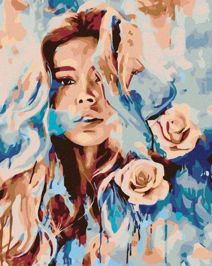 Maľovanie podľa čísel - RUŽOVÁ ŽENA