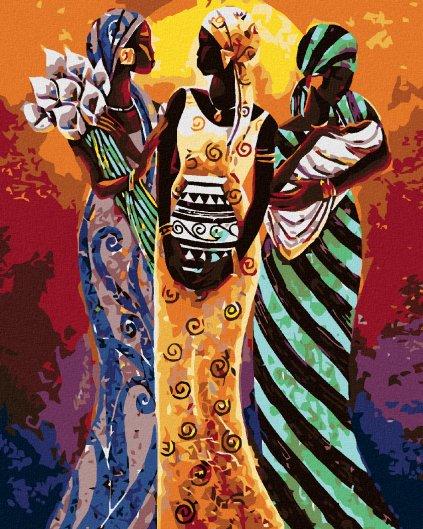 Maľovanie podľa čísel - TRI AFRICKÉ ŽENY