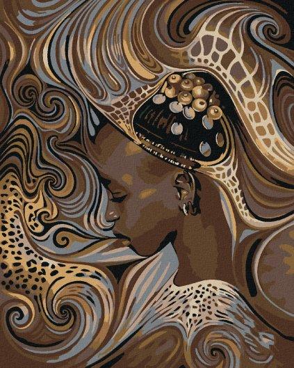 Maľovanie podľa čísel - AFRICKÉ DOMORODÉ DIEVČA