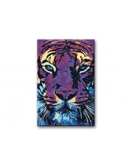 Maľovanie podľa čísel - MAĽOVANÝ TIGER