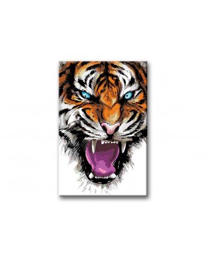 Maľovanie podľa čísel - ROZZÚRENÝ TIGER