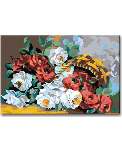 Maľovanie podľa čísel - RUŽA V KOŠÍKU