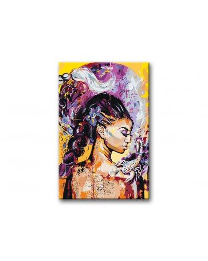 Maľovanie podľa čísel - KRÁSNA ŽENA SO ŠKORPIÓNOM