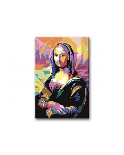 Maľovanie podľa čísel - FAREBNÁ MONA LISA