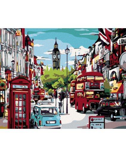 Maľovanie podľa čísel - POLUDNIE V LONDÝNE