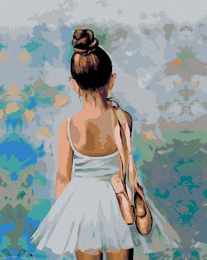 Maľovanie podľa čísel - MALÁ BALETKA