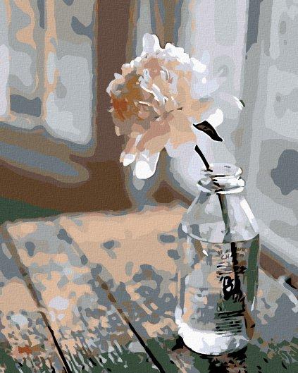 Maľovanie podľa čísel - KVET VO FĽAŠI